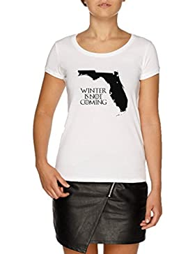Jergley Winter Is Not Coming Camiseta Blanco Mujer | Women's White T-Shirt