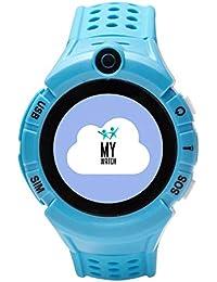 MY WATCH Smartwatch Niño - Reloj Inteligente con Localizador GPS Niños - Compatible iOS/Android - Botón SOS y Detección de Ausencia del Reloj - Reloj Inteligente - Todas Las Operadoras
