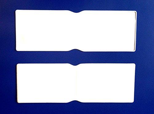 Weiß Kunststoff Oyster Card Wallet Abdeckung/Halterung/