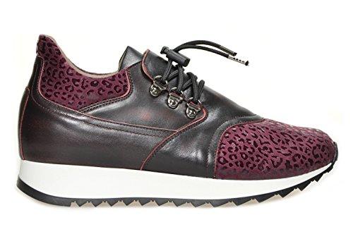 Running Gianluca Antano art. Andrea Versione Disegno Bordo' - Nevada Bordo' Nr. 37. Calzature confort da donna in pelle Made in Italy. Calzaturificio Faber