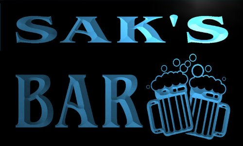w025517-b-saks-nom-accueil-bar-pub-beer-mugs-cheers-neon-sign-biere-enseigne-lumineuse