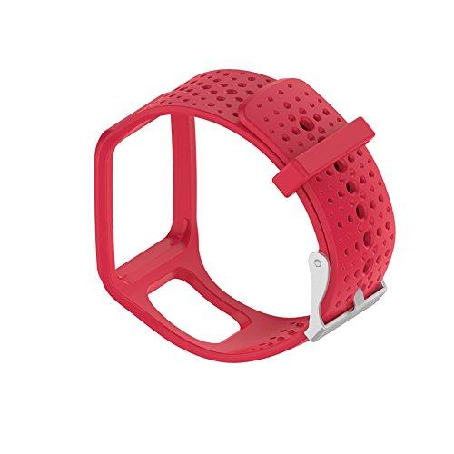 Ersatz - Silikon-Uhrenarmband für TomTom Multisport/Cardio GPS-Uhr TomTom Runner und mehr, rot