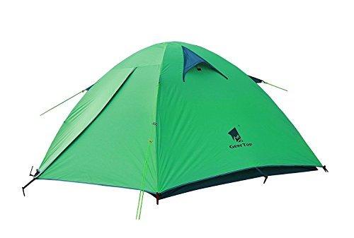 GEERTOP® 3-person 3-Jahreszeiten Aluminiumstangen wasserdichtes Camping Kuppelzelt(180 x 210 x 120 cm), Ideal für Camping, Klettern, Jagen (Grün)