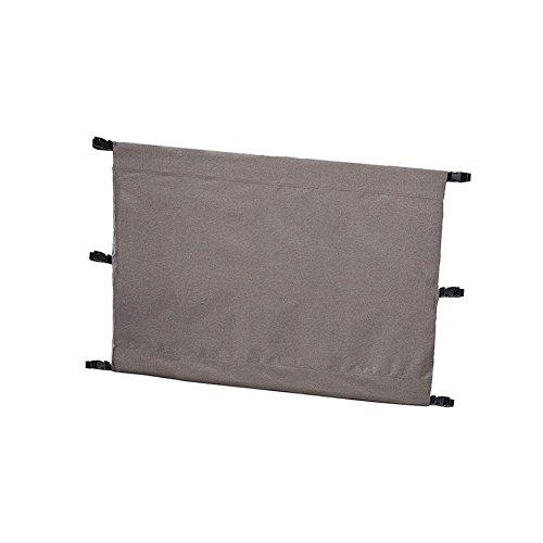Hualieli Treppenhausschutz Zaun Oxford Tuch Backyard Deck Barrier Baby und Haustier Gate Zaun Möbel Schutz, grau -