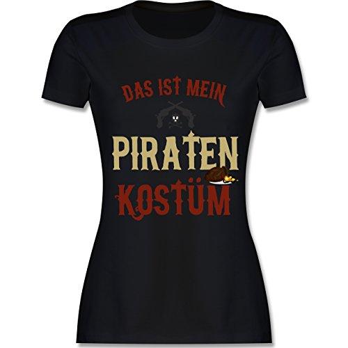 Karneval & Fasching - Das ist Mein Piraten Kostüm - XL - Schwarz - L191 - Damen T-Shirt ()