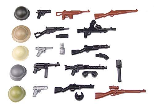 BrickArms WW2 WWII Set De Armas Custom armas figuras