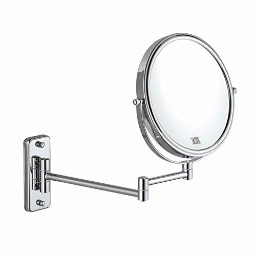 ALHAKIN 8inch 1/10fach Wand Kosmetikspiegel Wandmontage Bad Spiegel Ausziehbare Armlänge verchromt...