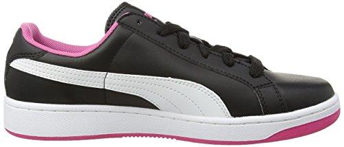 Puma Smash L Scarpe Tennis, Bambina Nero (Black/White/Carmine Rose)