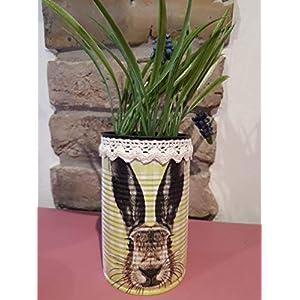 Handgefertigte Osterdose Rabbit