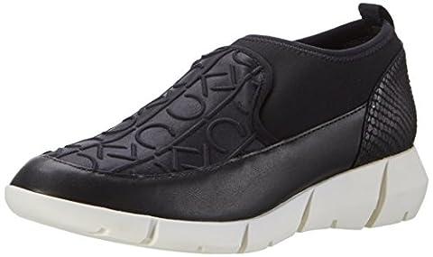 Calvin Klein Damen Winona CK Emboss Neoprene/Neop High-Top, Schwarz (Blk), 38 EU (Calvin Klein Sneakers)