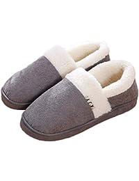 Pantofole Tacco Basso da Donna Tacco Piatto Antiscivolo Panno Ultra Morbido Scarpe  da Interno Esterno e56c831c427