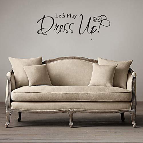 mmzki Let's Play Dress up Günstige Tapete Wandbild Große Wandaufkleber Für Kinderzimmer Wandkunst Aufkleber Dekoration Zubehör 58 cm x 22 cm ()