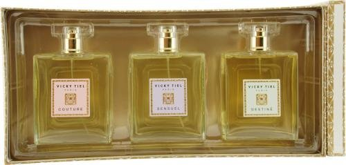 Vicky Tiel Variety By Vicky Tiel For Women 3 Piece Womens Variety With Couture & Sensuel & Destine & All Are Eau De Parfum Spray 3.4 Oz by SIRENE (Sirene Duft Spray)
