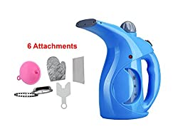 House of Quirk Garment Steamer Portable Garment Steamer Fabric Steamer, Facial Steamer, Portable Dual Power Travel Iron Steamer, Fast Steam Humidifier Mini Iron Household Steamer (BLUE)