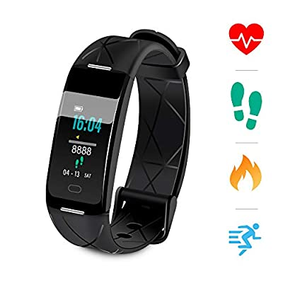 Sonkir Fitness Tracker HR, Activity Tracker Watch with Heart Rate Monitor, Pedometer, 8 Sports Modes, Calorie Counter, Sleeping monitor, IP68 Waterproof Smart Bracelet for Android and iPhone by Sonkir