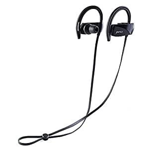 Pinty Sports In-ear Headphones for Running, Wireless Bluetooth Earphones with Microphone IPX7 Waterproof Sweatproof, Comfortable Earbuds Noise Cancelling