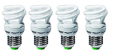 4x Energiesparlampe Megaman Helix 8W E27/827 (MM28112) [Energieeffizienzklasse: A] (Nacht Bade)