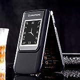Entsperrt Langlebig Flip-Telefon E9Handy GSM Flip-Telefon Duan Bildschirm Dual SIM Karte Dual Standby, schwarz