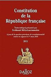 Constitution de la République Française 2011 - 9e éd.