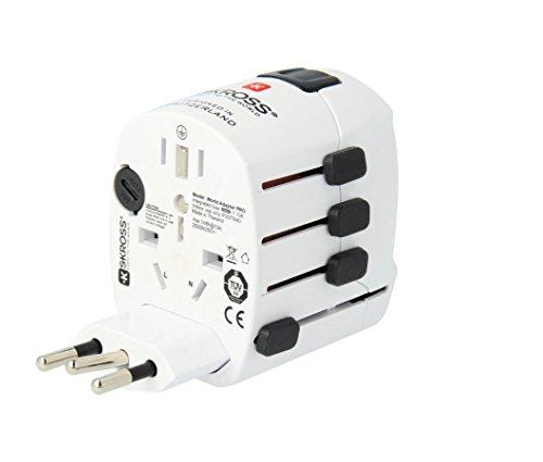 Skross SKR215058E - Adaptador mundial adaptador de viaje universal pro plus