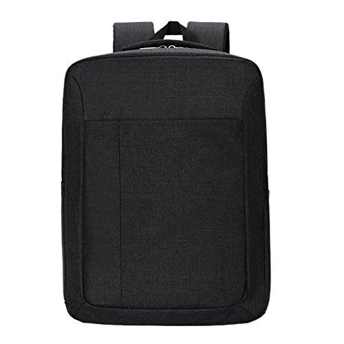 Domybest - Mochila de viaje para hombre, perfecta para llevar el ordenador portátil o ir a clase negro negro