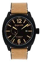 Gigandet RED BARON III Herren Automatik Armbanduhr Fliegeruhr Analog Beige Schwarz G16-009