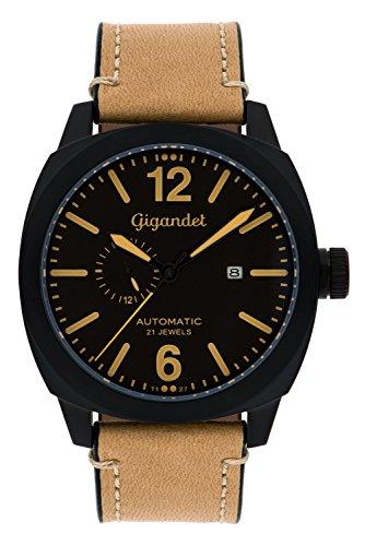 Gigandet G16–009–Uhr für Männer, Lederband beige