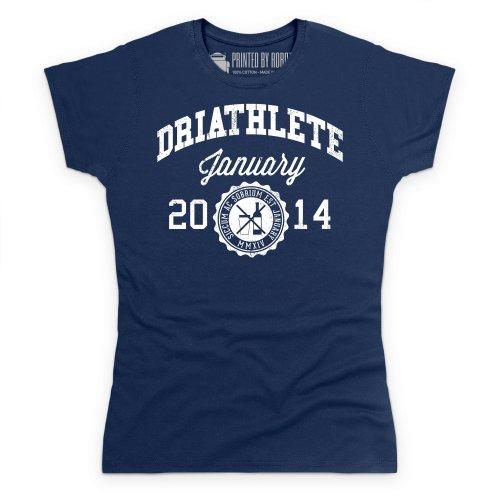 Driathlete T-Shirt, Damen Dunkelblau