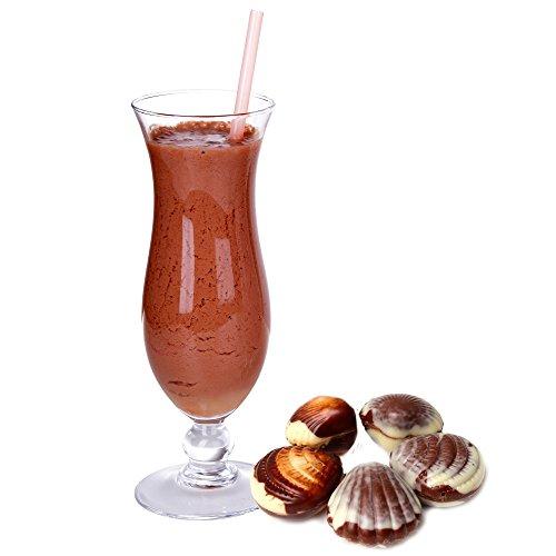 Belgische Praline Geschmack Proteinpulver Vegan mit 90% reinem Protein Eiweiß L-Carnitin angereichert für Proteinshakes Eiweißshakes Aspartamfrei (1 kg)