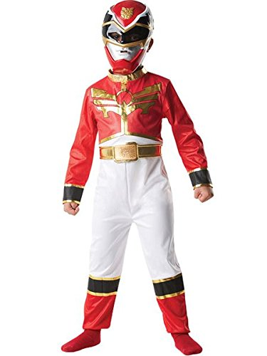 Rangers Red Kostüm Power Ranger (Red Power Ranger - Power Rangers Megaforce - Kinder-KostŸm - Small -)