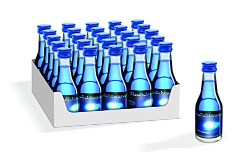 Blaulichtwasser - Blaulichtwasser 20/16-25er-Tray - Likör 16% vol. - Feuerwehr Party