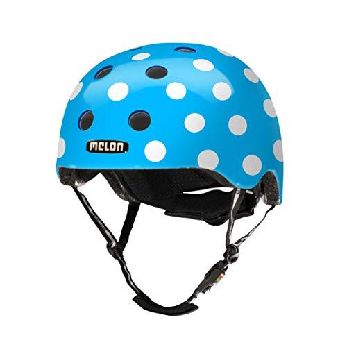 MELON Urban Active Fahrradhelm, Dotty Blue, XXS-S
