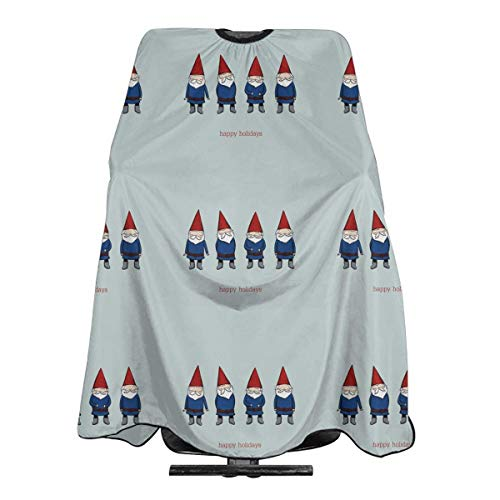 Holiday Greeting Gnome Friends Professional Salon Haircut Apron Hair Cut Cape For Styling Hair Cut Hairdresser 55 X 66 Inch (Frauen Gnome Kostüm)