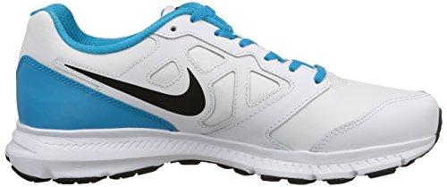 Nike Herren Sportschuhe Downshifter 6 Lea mehrfarbig (White/Black-Blue Lagoon-White)