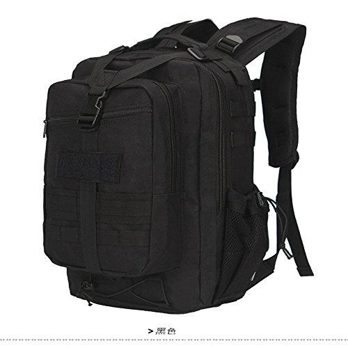 Dlflyb Rucksack Outdoor Camouflage Rucksack Multifunktionale Bergsteigen Tasche black