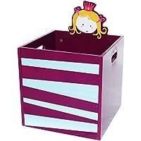 Preisvergleich für Labebe Kid Möbel Spielzeug Aufbewahrung hölzernes Spielzeugbox / Truhe / Organizer, Aufbewahrungskorb perfekt für Spielzeugaufbewahrung, Organisieren Baby Spielzeug, Kinderzimmer, Kinderspielzeug, Babybekleidung, Geschenkkörbe - Lila