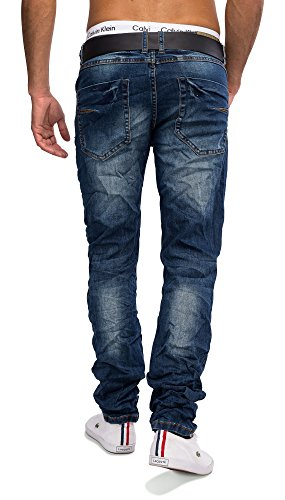 Jeansnet HommesPierre Washed Jeans PUBLIO Nr.1606 Regular Fit (stretch) Blau
