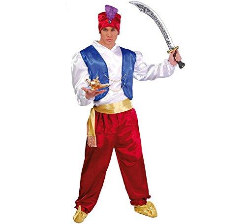 Guirca- Costume Aladino Genio della Lampada, Multicolore, Taglia única, 80501
