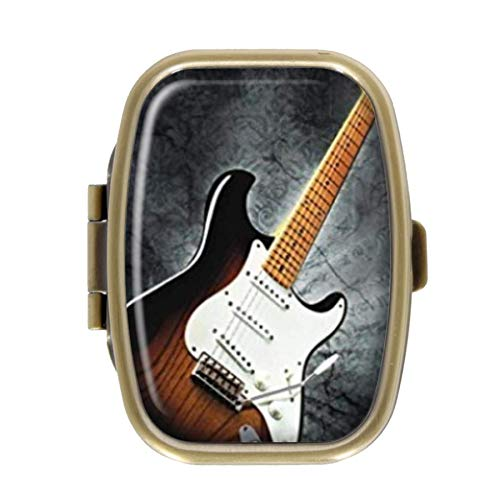 Qcc Pastillero Guitarra eléctrica, Caja Decorativa Rectangular de ...