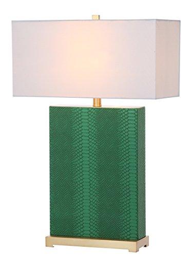 Buy Safavieh Palmer Faux Snakeskin Table Lamp, Dark Green, E27, 13 W, Set of 2 Special
