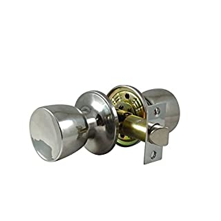 IKONIC Tulip Chrome Plated Passage Door Handle Knob Set with Screw and Fittings