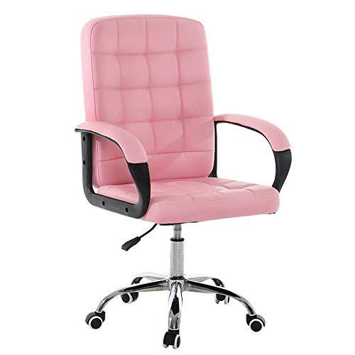 HIZLJJ Bürostuhl Ergonomische Günstige Schreibtischstuhl Mesh Computer Stuhl Lordosenstütze Moderne Executive Verstellbarer Hocker Drehstuhl für Rückenschmerzen (Color : Pink)