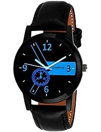 Golden Bell Original Multicolour Dial Black Strap Analog Wrist Watch For Men - GB-935