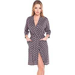 Italian Fashion IF Bata en Algodón Mujer N2GR1 (Rosa, L)