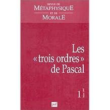 """Les """"trois ordres"""" de Pascal"""