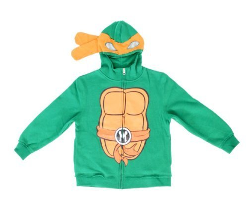 Teenage Mutant Ninja Turtles Michelangelo Jungen Kostüm Zip Up Hoodie Sweatshirt (Kleinkind - Baby Michelangelo Kostüm