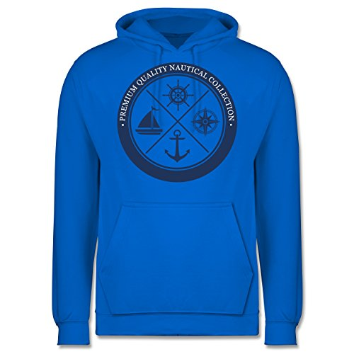 Schiffe - Premium Quality Nautical Collection Sailing - Männer Premium Kapuzenpullover / Hoodie Himmelblau