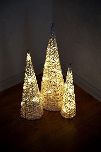 * 3er Set LED-Weihnachtsbeleuchtung   Weihnachtskegel Weihnachtspyramide Lichtkegel Leuchtkegel Weihnachtsdeko Adventsdeko