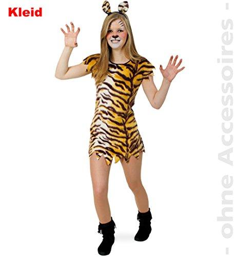 Fries Little Tisha Kleid Mädchen Kostüm Fasching Karneval Tiger Verkleiden Katze: Größe: - Tiger Kostüm Mädchen