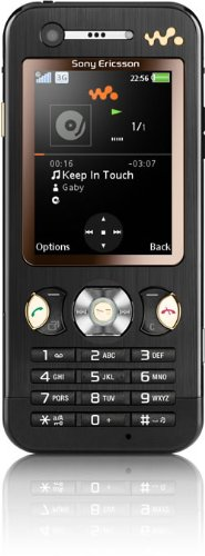 Sony Ericsson W890i UMTS-Handy (Bluetooth, MP3-Player, Kamera) Espresso Black